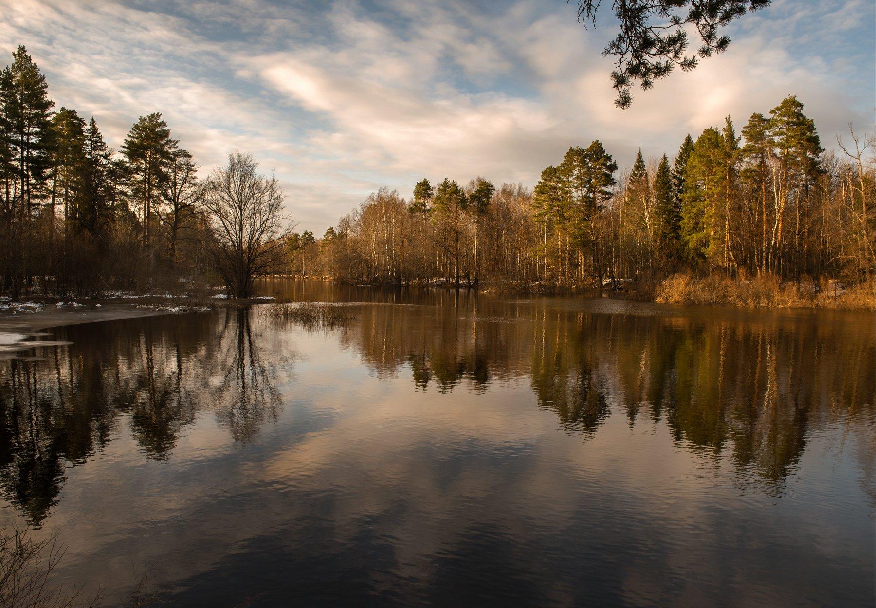 закат, пейзаж, река, керженец,  landscape, sunset, Грибов Андрей