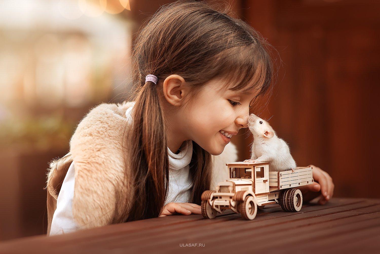 art photo, glamour, портрет, весна, spring, крыса, мышка, mouse, rat, ребенок, дети, девочка, girl, животное, радость, people, малыш, друзья, happy, любовь, love, 105mm, kid, children, beautiful, Юлия Сафо