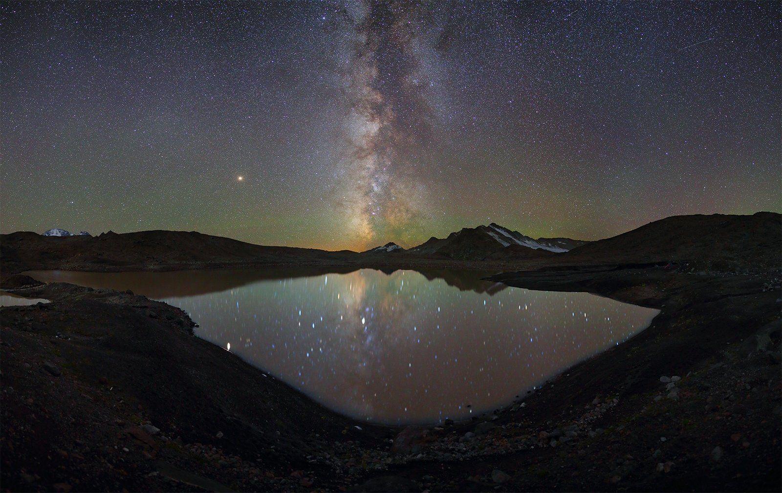 ночь большой тхач ночной пейзаж астрофотография звезды созвездия млечный путь ачешбоки, Рева Михаил