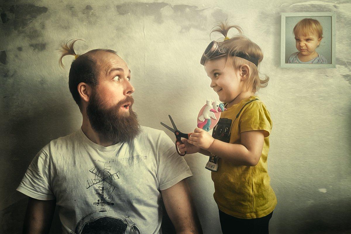 портрет, ребенок, цвет, картина, юмор, семья, творческое, редактирование, portrait, light, image, creative, edit, Kurs Rafał