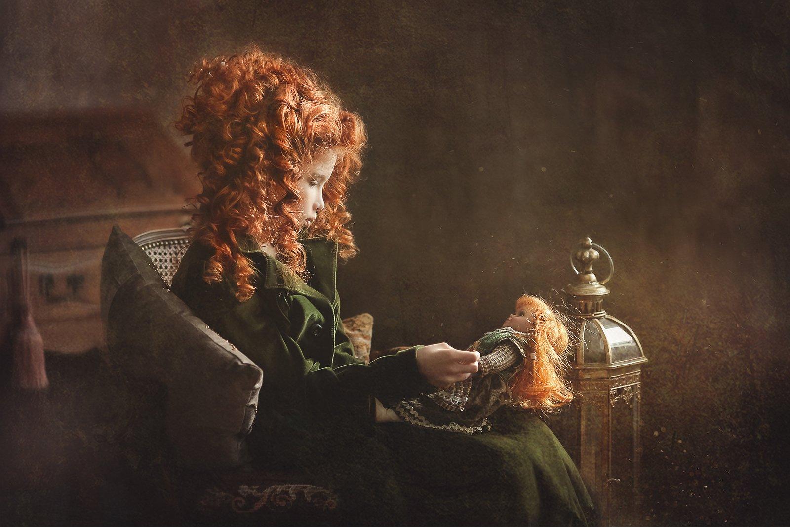 девочка кукла рыжая  , Екатерина Годова