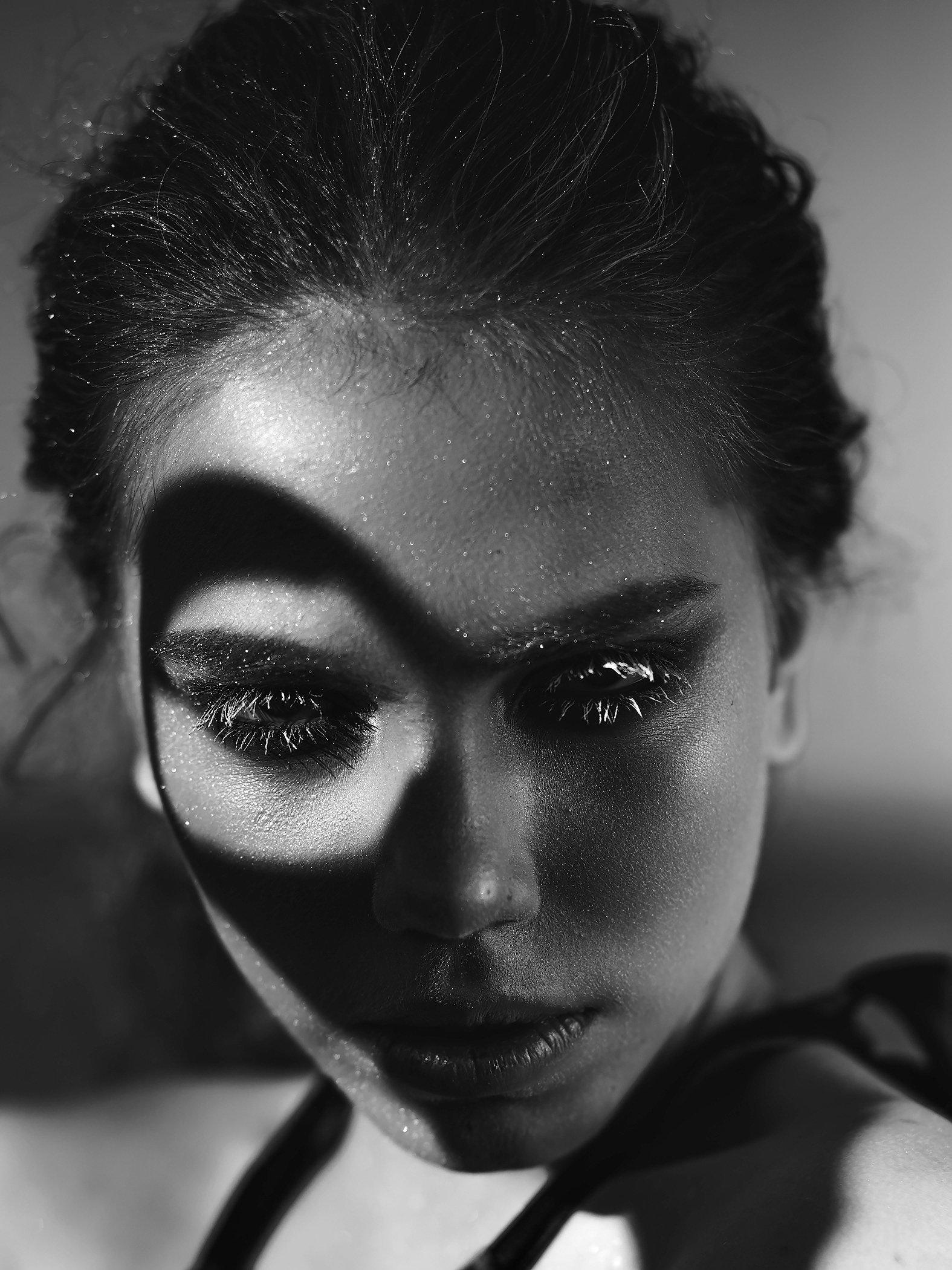 bw, blackandwhie, shadows, portrait, model, makeup, mua, muah, bw portrait, beauty, Молочкова Ася