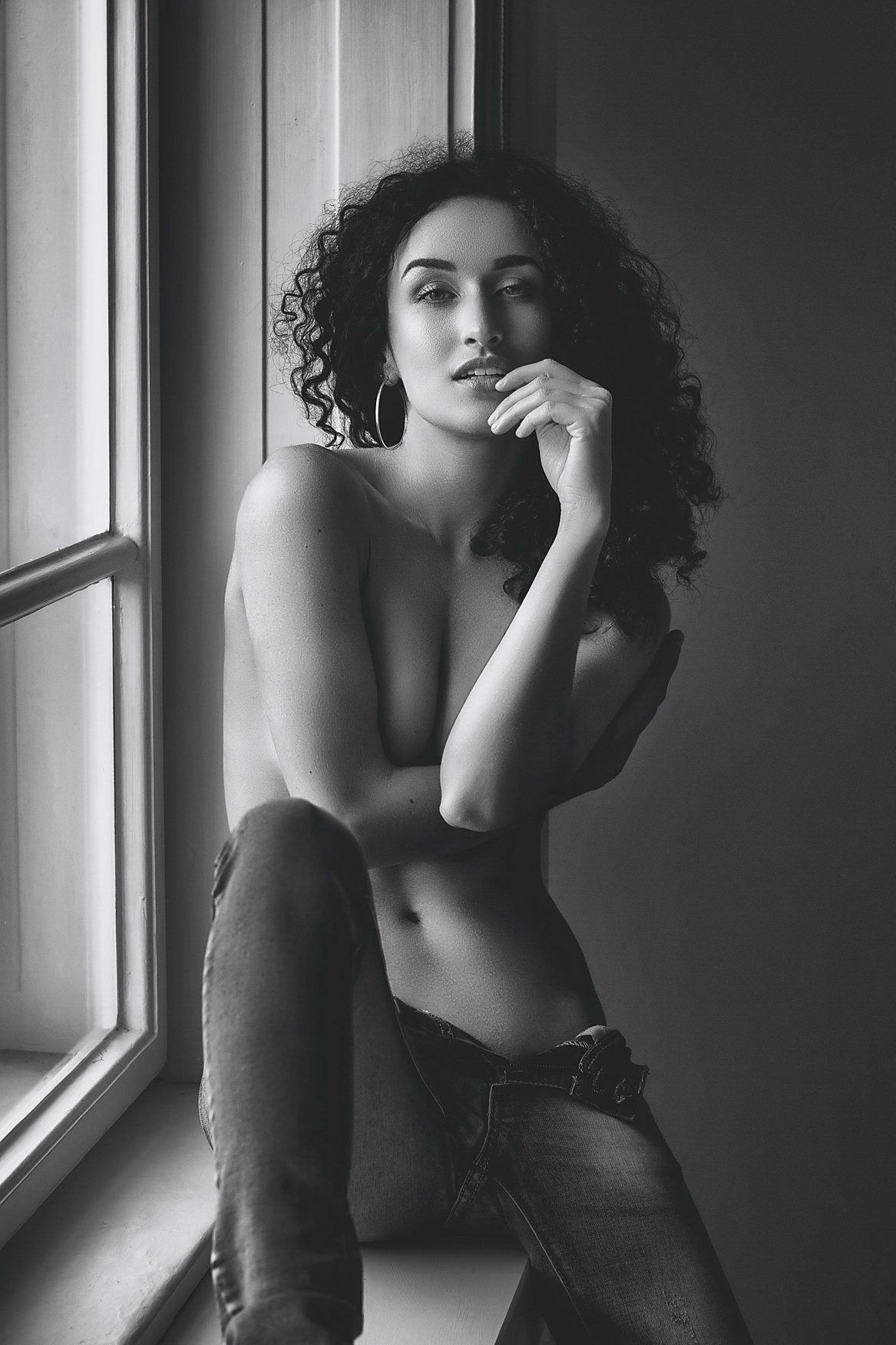 model, fine art, sexy, sensual, black and white, woman, female, body, erotica, glamour, curves, portrait, beautiful, fashion, implied nude, implied,, Lajos Csáki