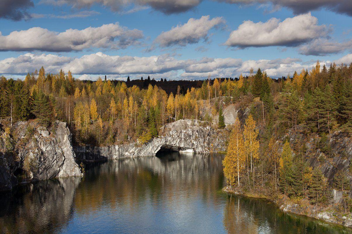 мраморный карьер, рускеала, карелия, осень, Alex Darkside