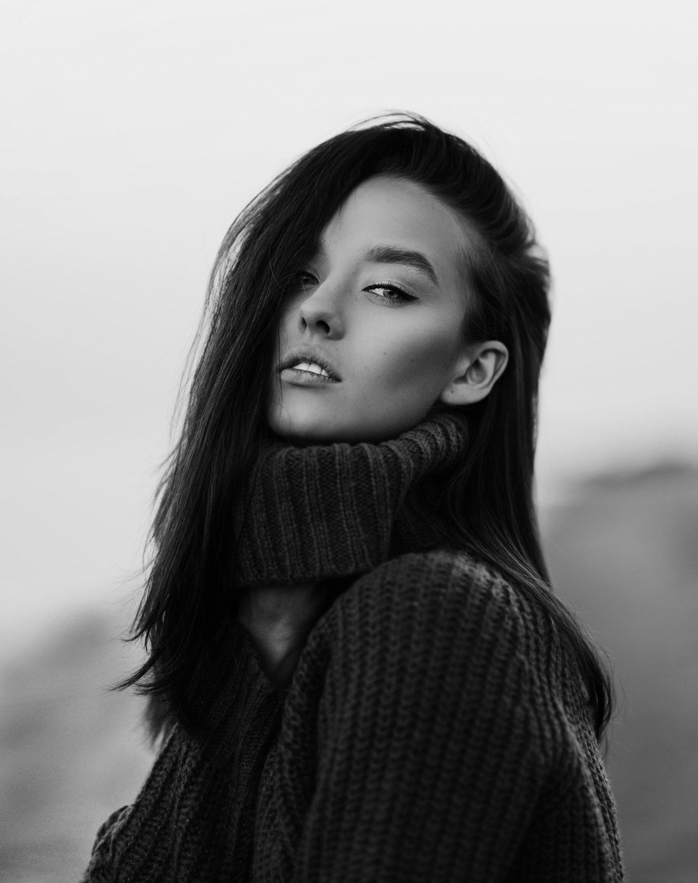 портрет, чб, натуральный свет, эстония, 85мм, , Анастасия Волкова