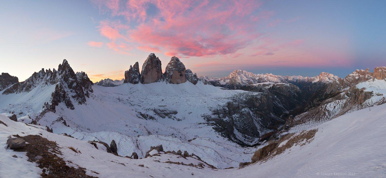 доломиты, доломитовые альпы, италия, tre cime di lavaredo, Сергей Ершов