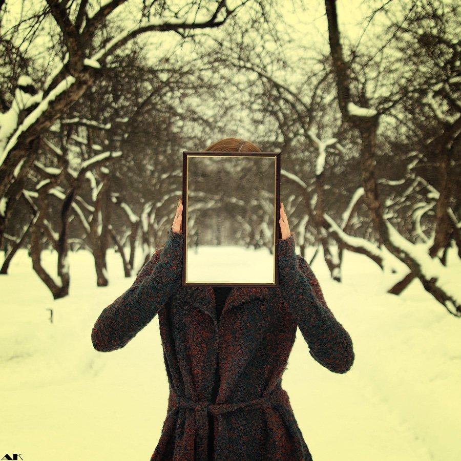 snow, faceless, portrait, Колбая Александр