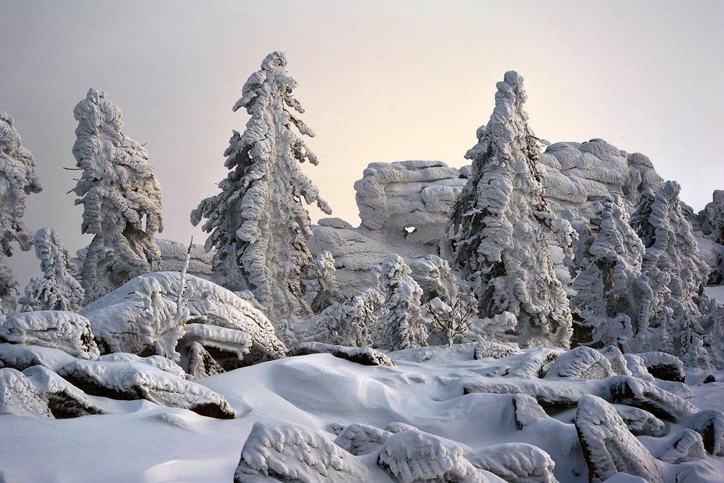 шерегеш, горная шория, гора мустаг, скалы верблюды, снег, холод, Валерий Пешков