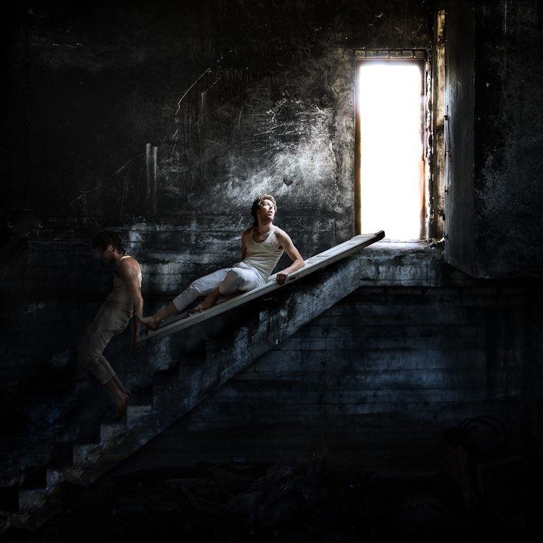 light, darkness, man, stairs, basement, door, color, human,, Rafał Kurs
