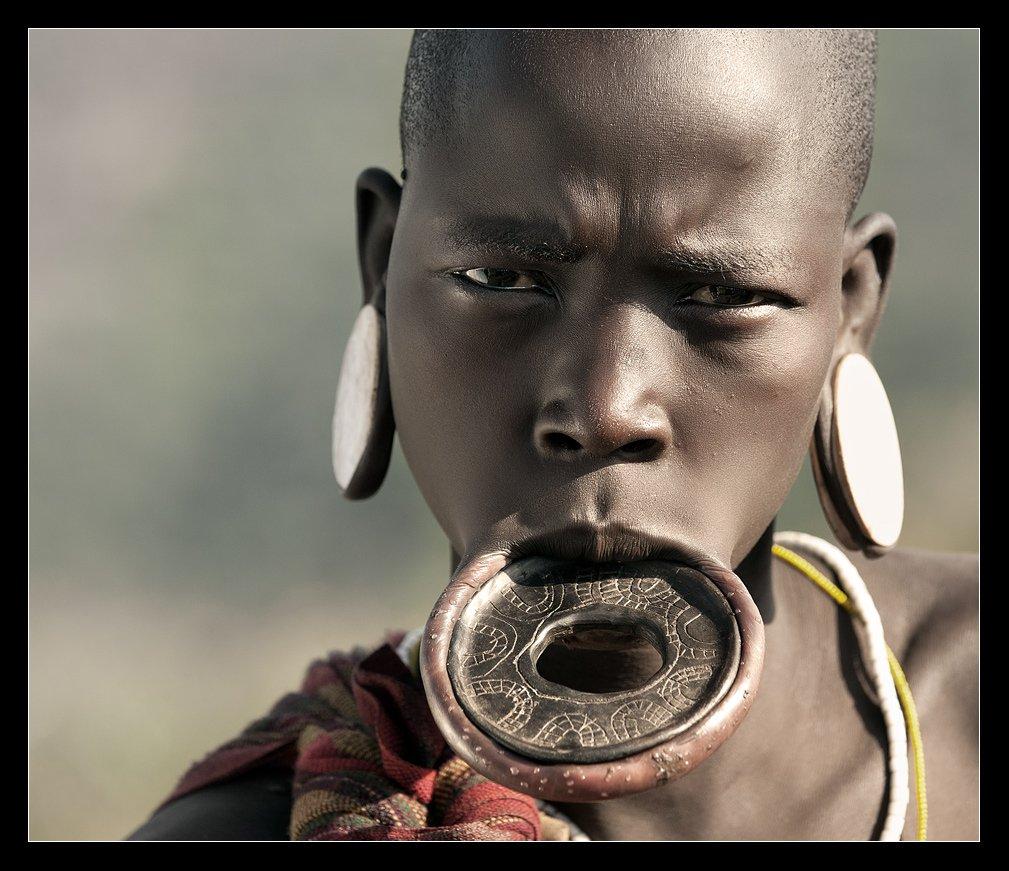эфиопия, женщина, племя, мурси, Виктория Роготнева