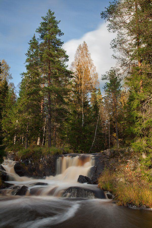 карелия, осень, рускеала, водопад, Alex Darkside