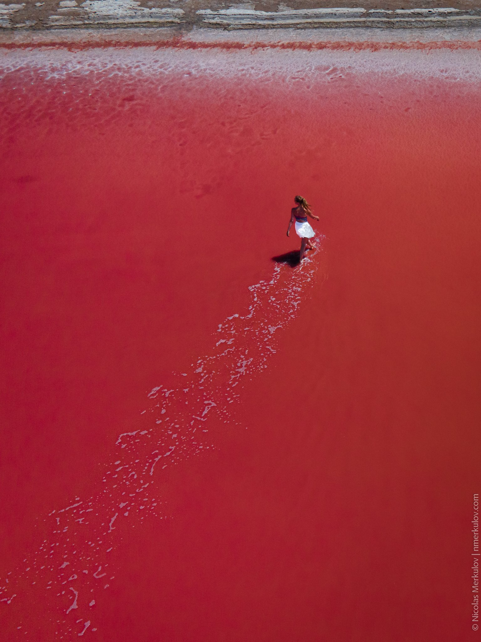 lake, red, red lake, dunaliella salina, landscape, people, woman, sunset, drone, drone photography, nmerkulov, nmerkulovphotography, Николай Меркулов