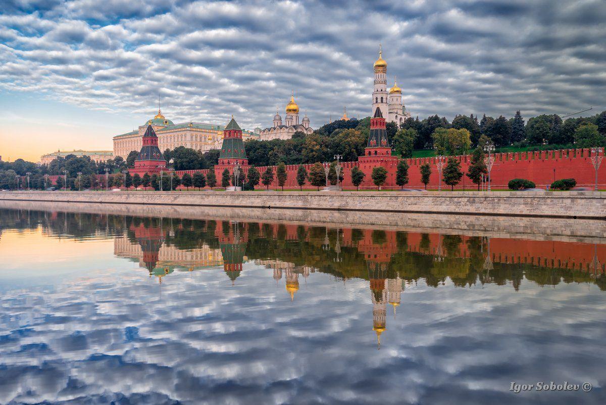 москва, кремль, облако, москва-река, отражение, Игорь Соболев