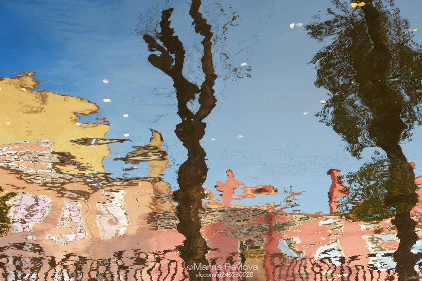 акваабстракция, абстракция, петербургские акварели, отражения на воде, парейдолия,канал грибоедова, санкт-петербург, город, Павлова Марина