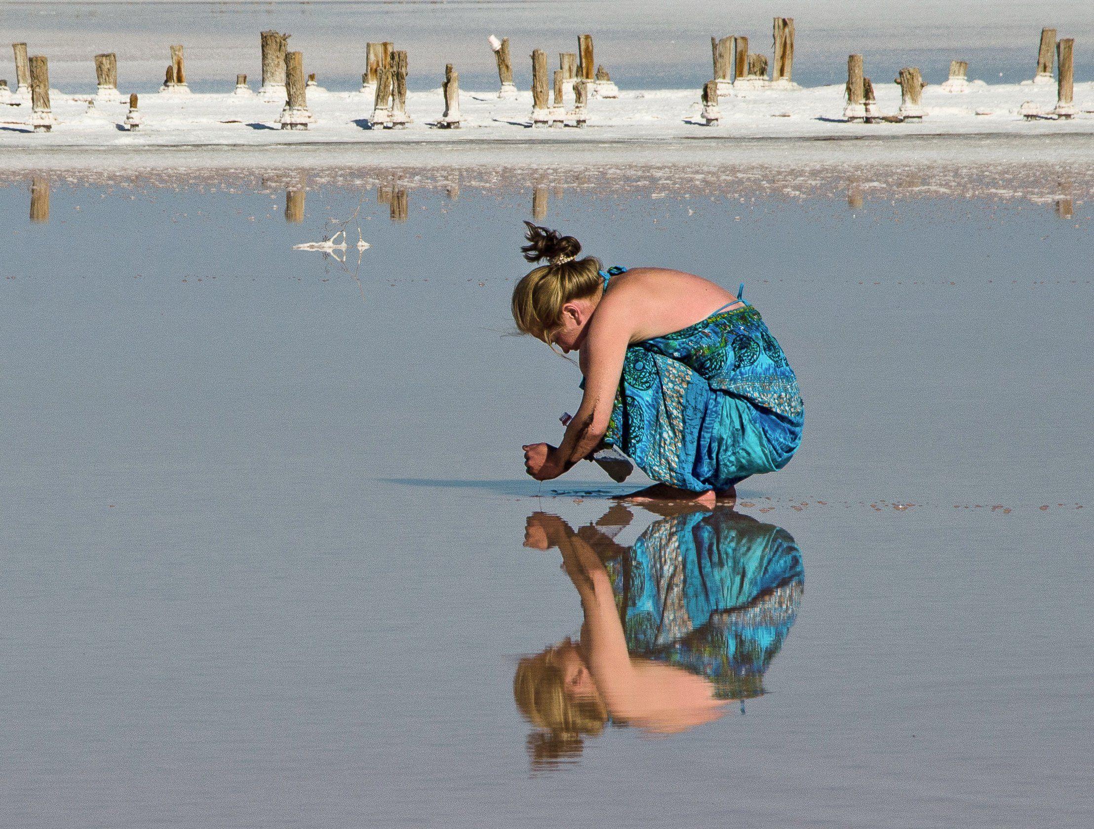 дама, отражение, Валерий Наумов
