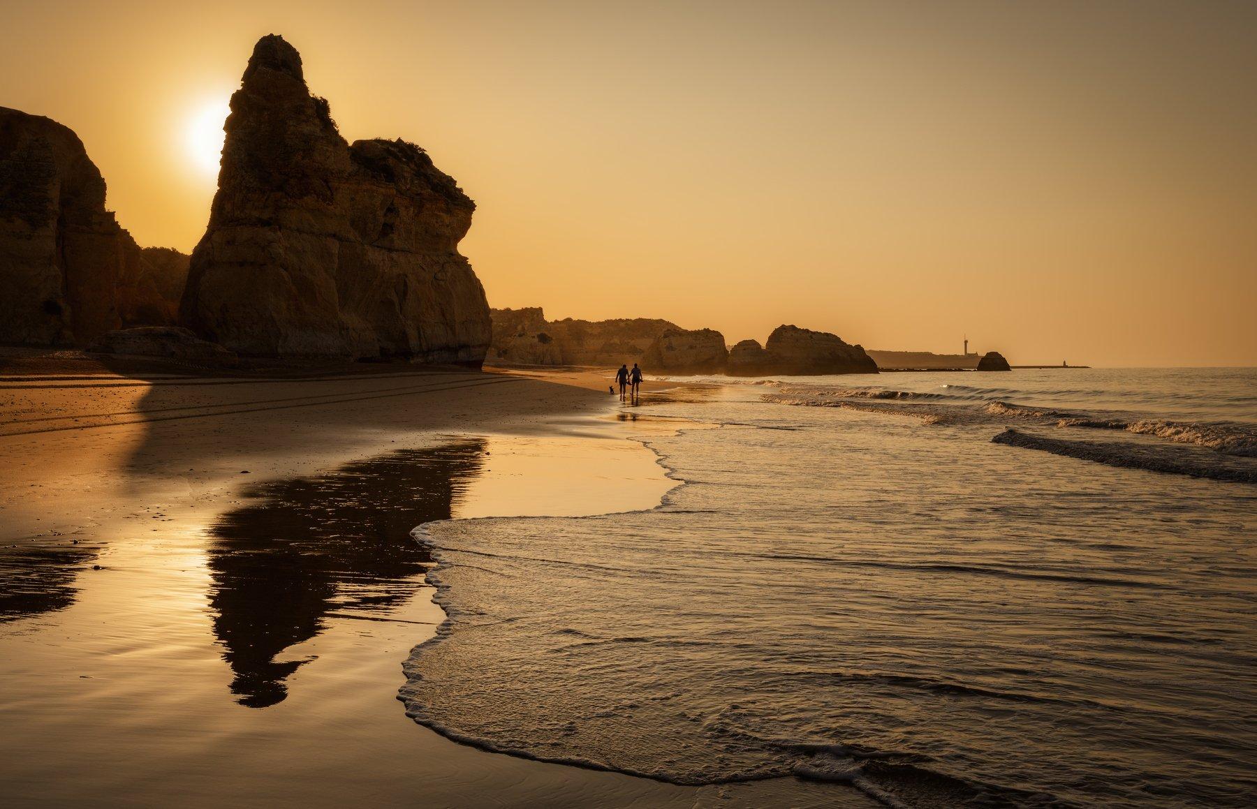 пляж, океан, рассвет, Alexandr Bezmolitvenny
