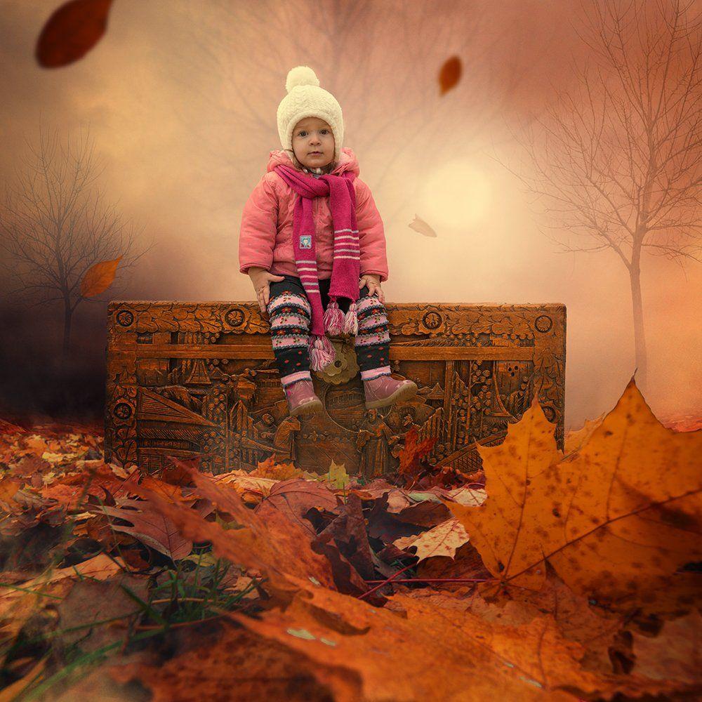 mist, red, tree, running, mystery, manipulation, photoshop, joy, psd, ioana, tutorials, Caras Ionut