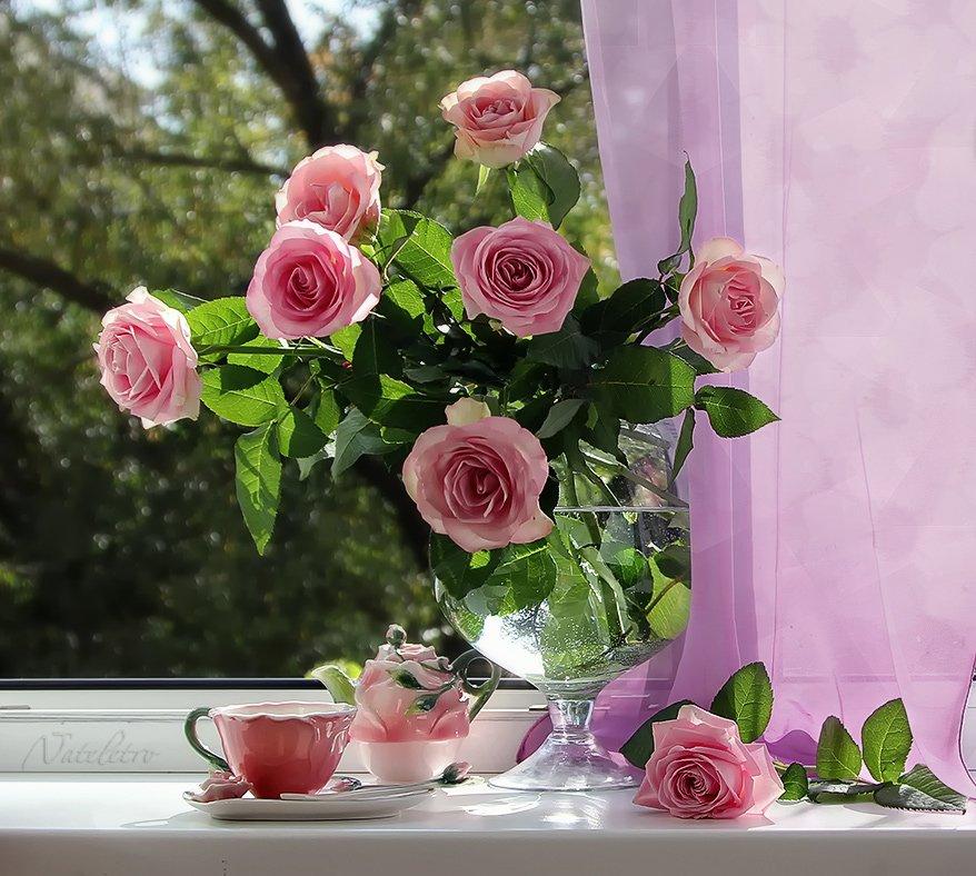 натюрморт, цветы, розы, Наталья Кузнецова (Nateletro)