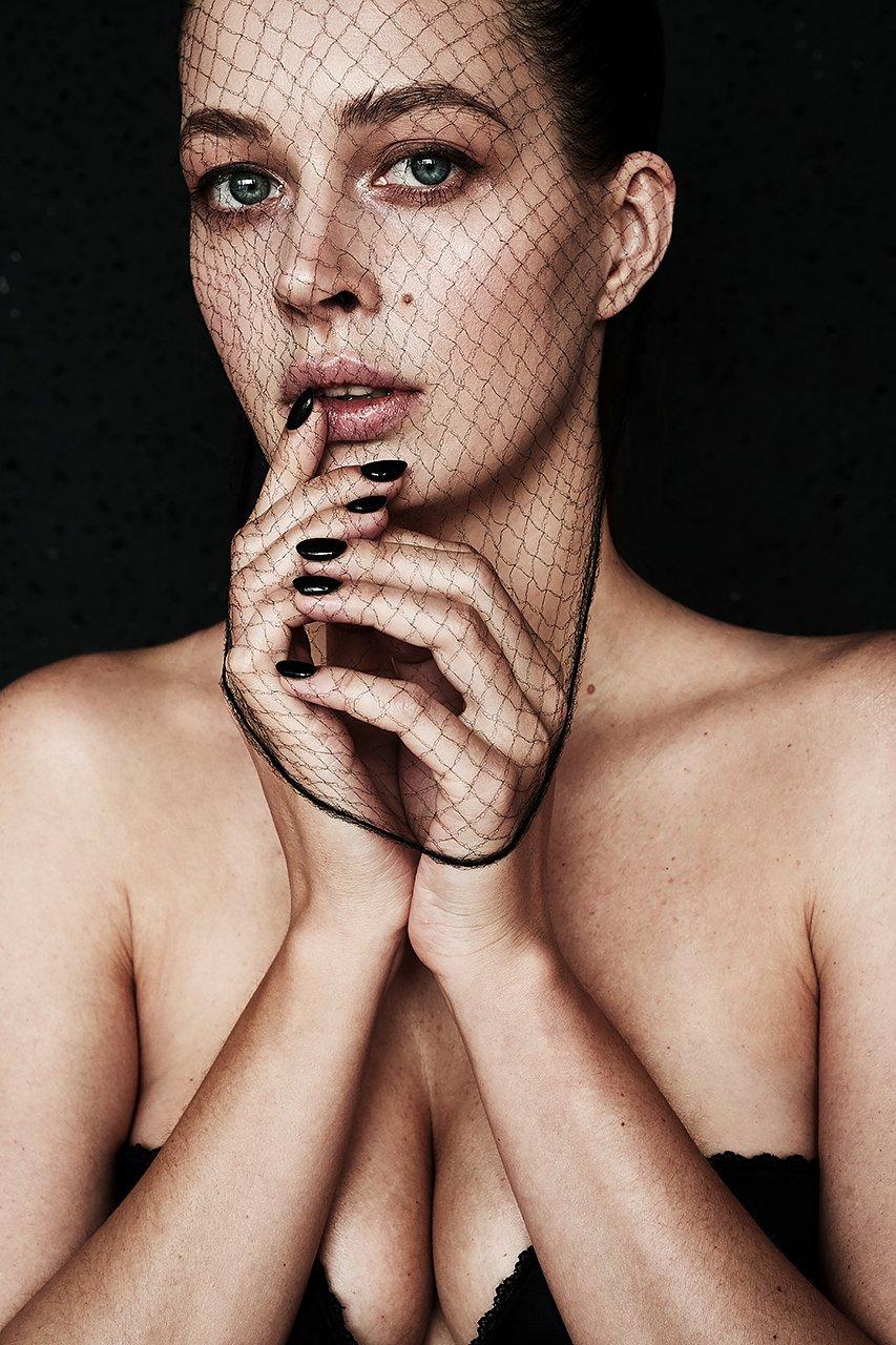 девушка, концептуально, сети,  сексуальная, красивая, модель, черный, концепт, Комарова Дарья