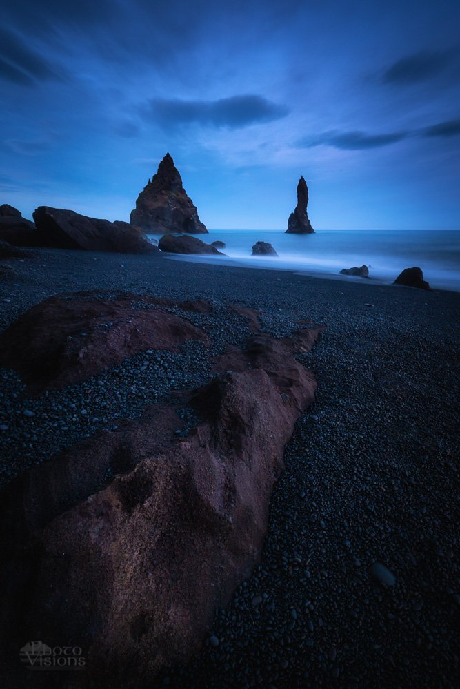 iceland,rocks,seascape,blue hour,sea stack, long exposure, Szatewicz Adrian
