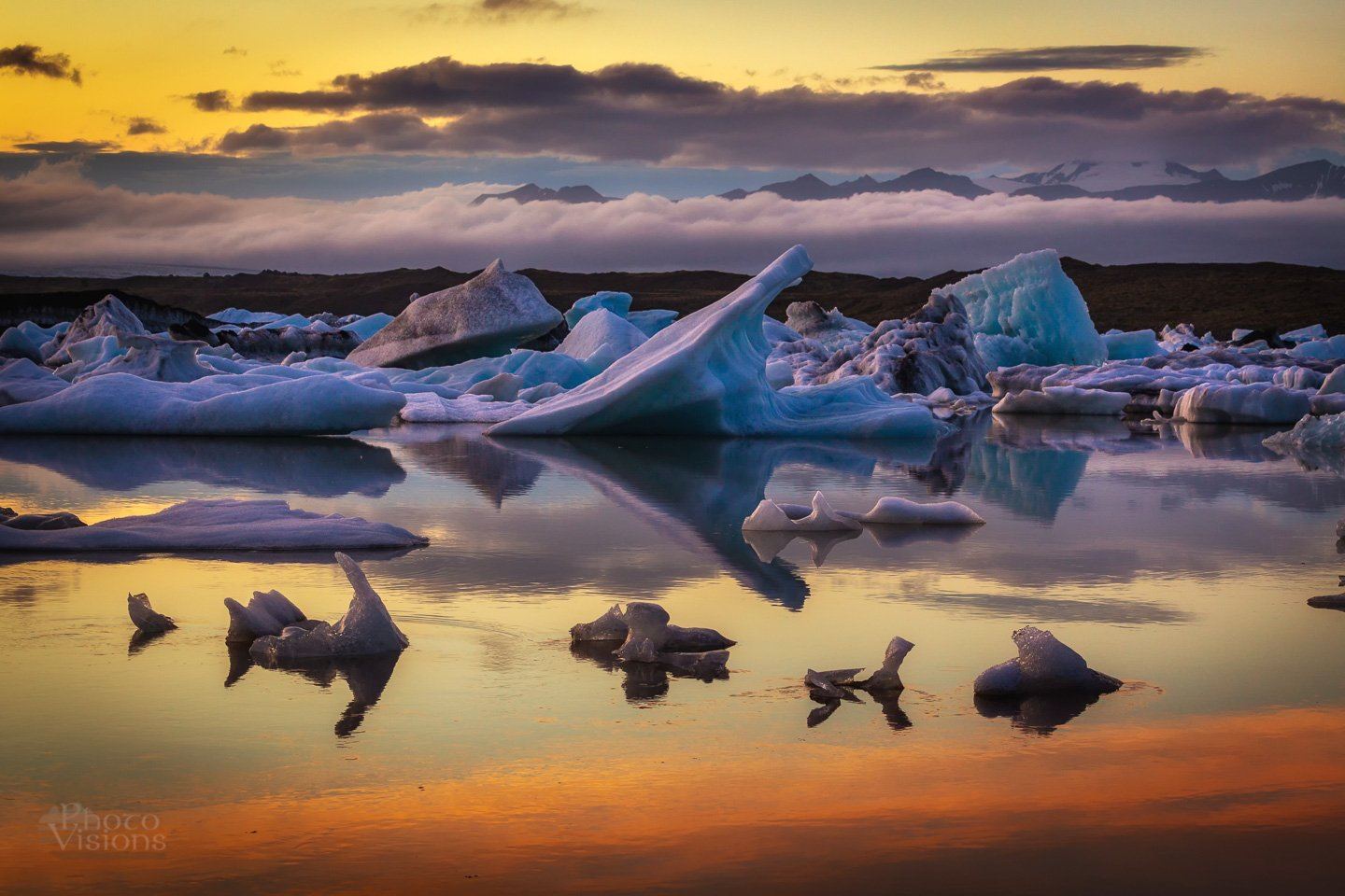 iceland,ice,glacial,glacier,mountains,sunset,night,colours,iceberg,, Szatewicz Adrian