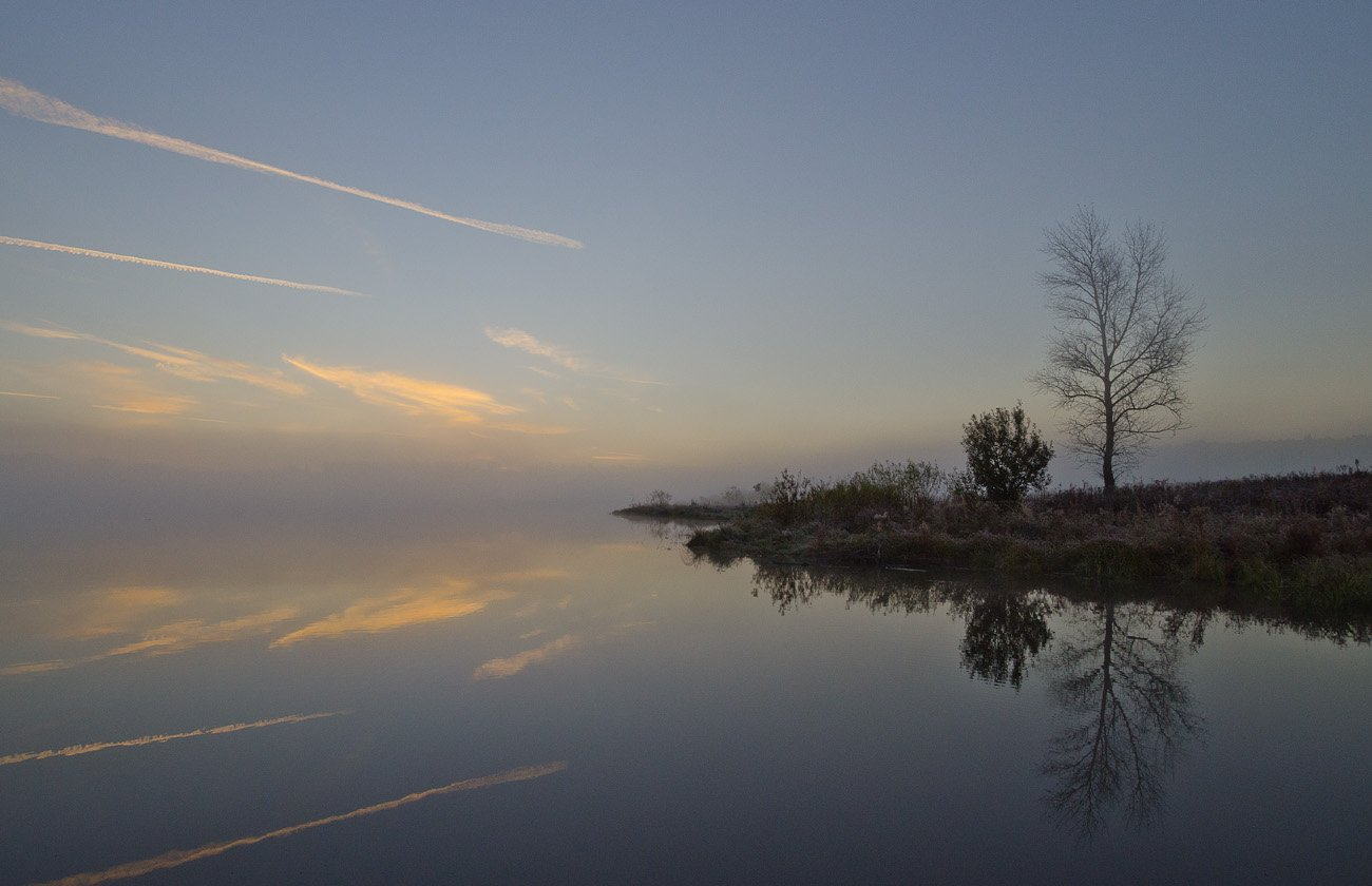 утро, туман, архангельское, Михаил Агеев