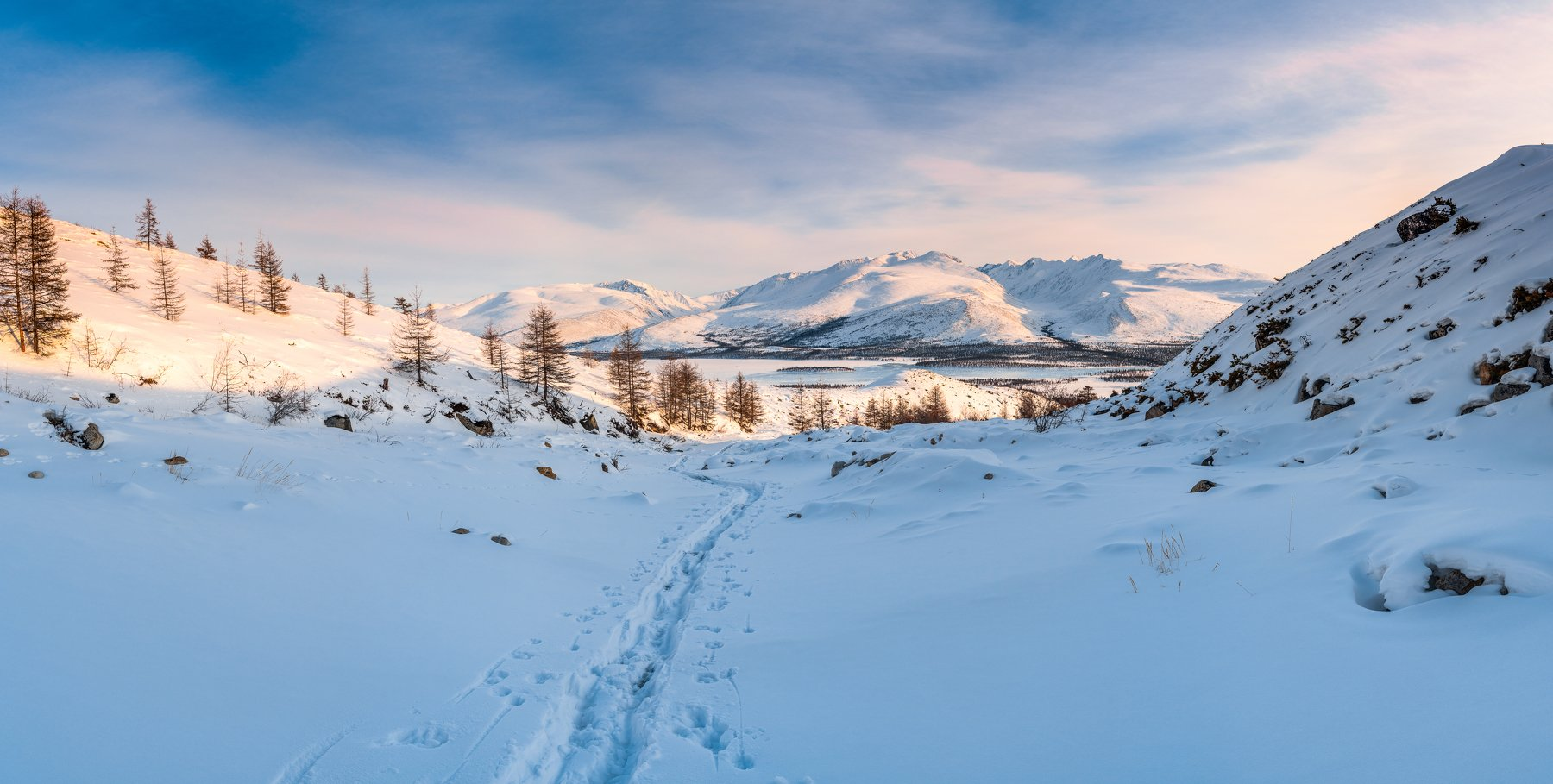 Якутия, хребет Черского, снег, зима, Evgeniy Khilkevitch