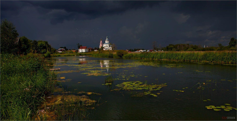 россия, суздаль, река, каменка, церкви, кувшинки, путешествия, Виктор Перякин