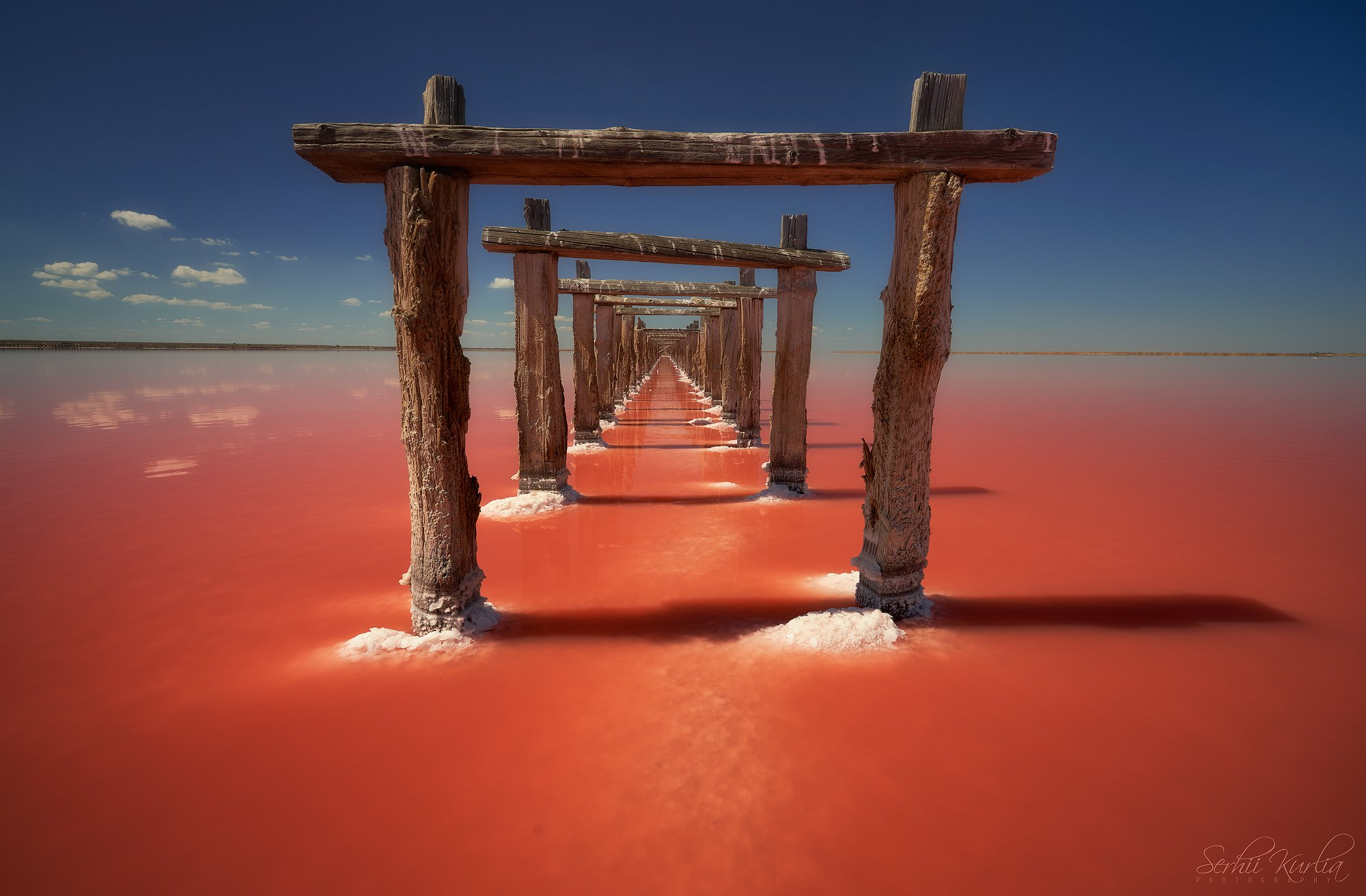 солёное озеро, розовое озеро, Курля Сергей
