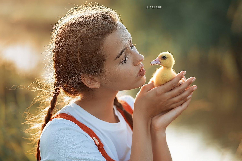 art photo, лето, summer, закат, sunset, портрет, ребенок, дети, животное, утенок, утка, people, друзья, happy, 105mm, kid, children, beautiful, magik, волшебство, Юлия Сафо