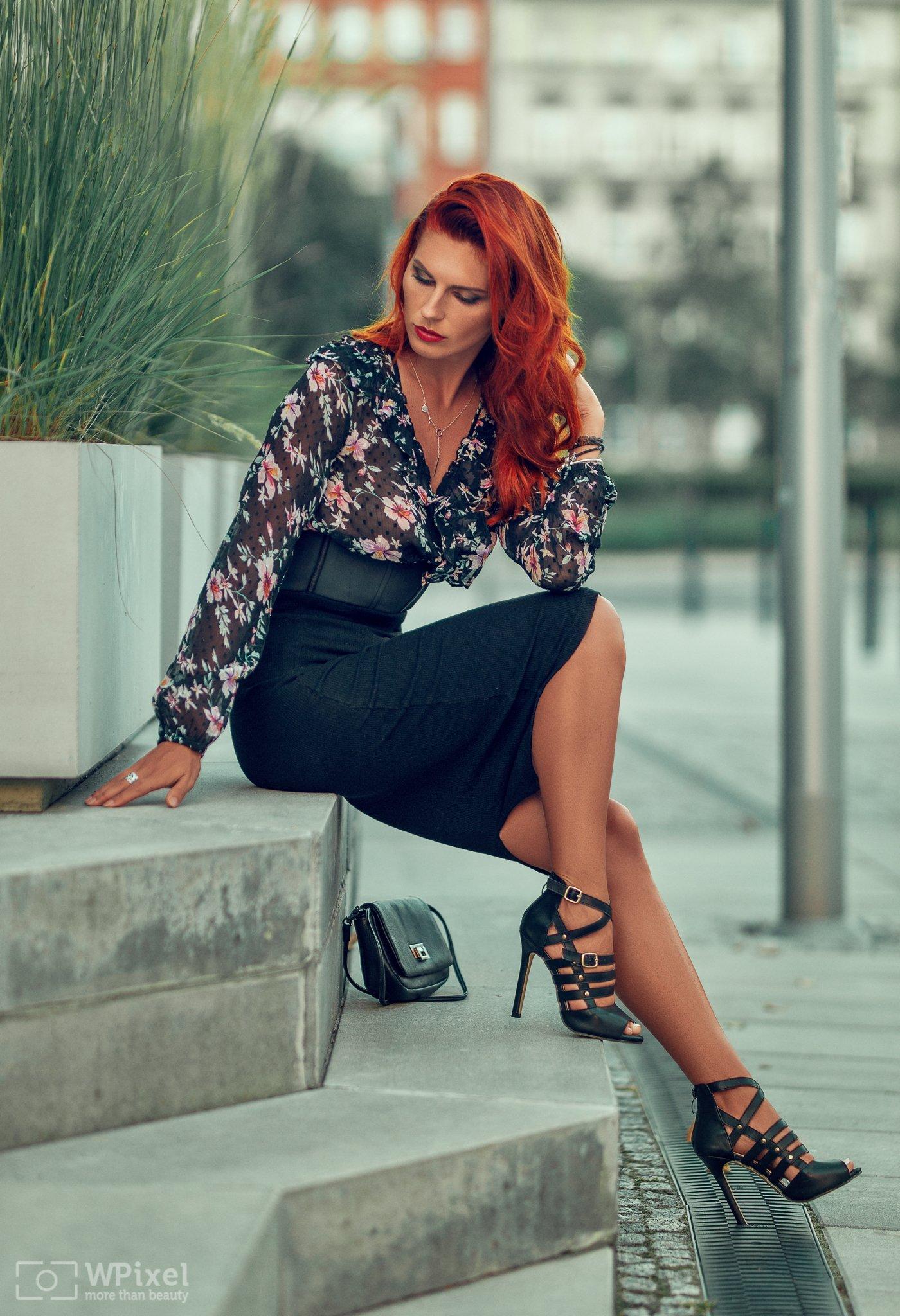 portrait women redhair sexy legs, Wojtek Polaczkiewicz