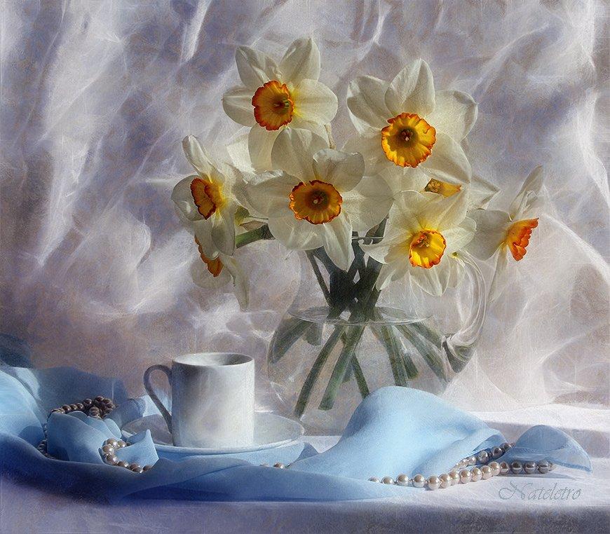 натюрморт, цветы, , нарцисс, Наталья Кузнецова (Nateletro)