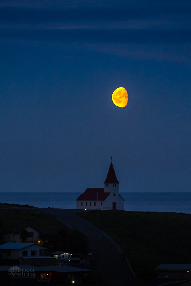 iceland,vik,moon,moonrise,night,summer,, Szatewicz Adrian