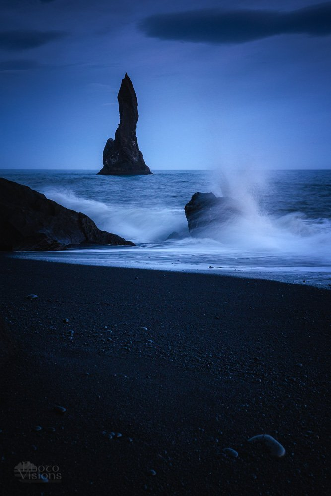 reynisfjara,iceland,beach,wave,sea,night,summer,blue hour,, Szatewicz Adrian
