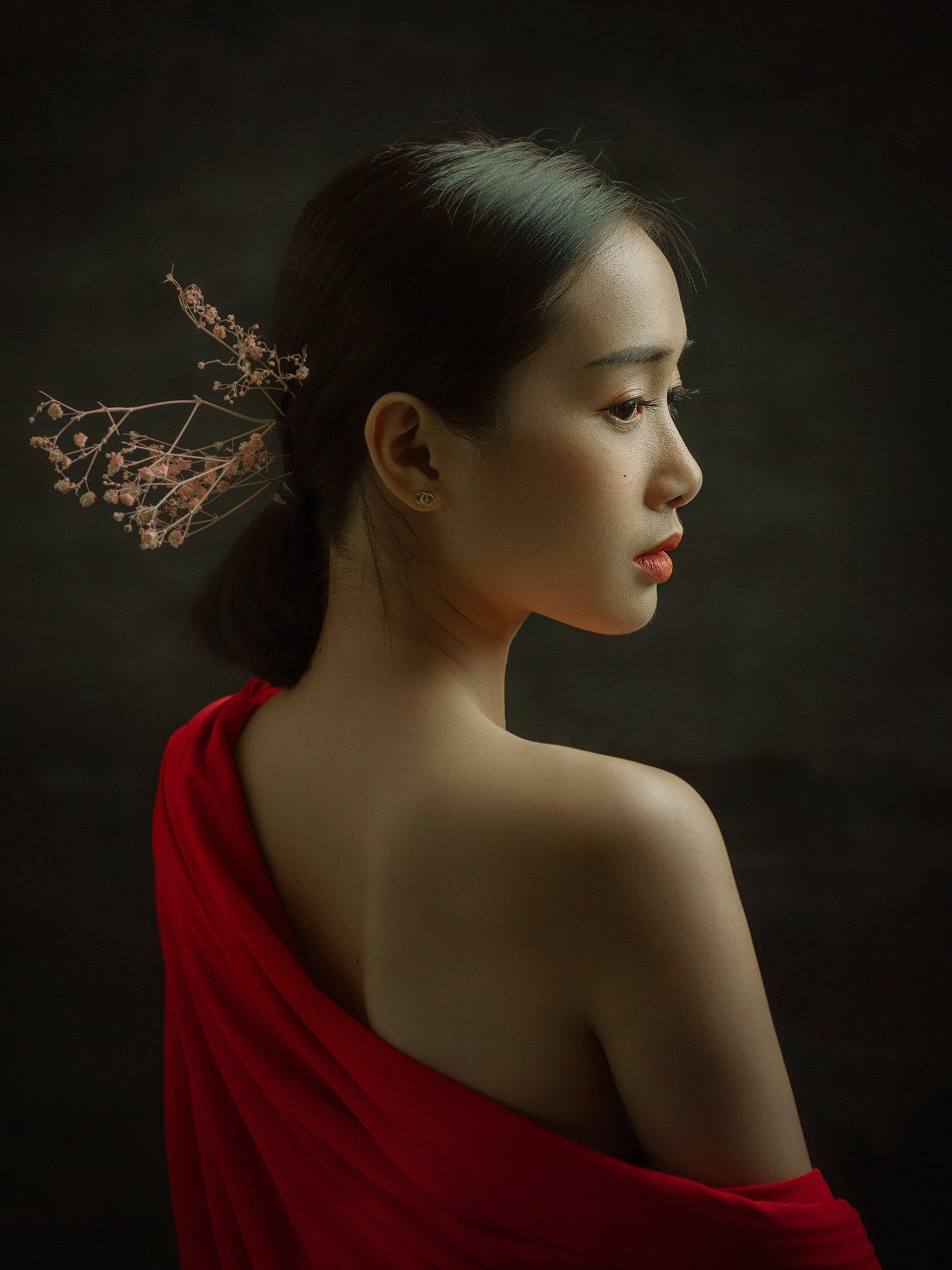 portrait, female, woman, girl, asian, vietnam, vietnamese, young, studio, mood, skin, flesh, Hoang Viet Nguyen