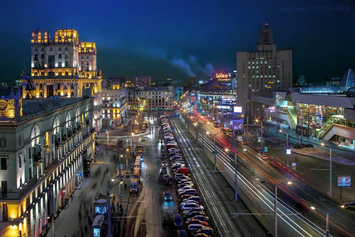 беларусь, город, минск, вечер, фотосфера-минск, Serg-N- Melnik-oy