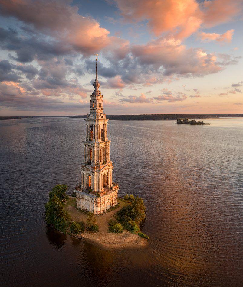 калязин, колокольня, рассвет, тверская область, Alex Yurko