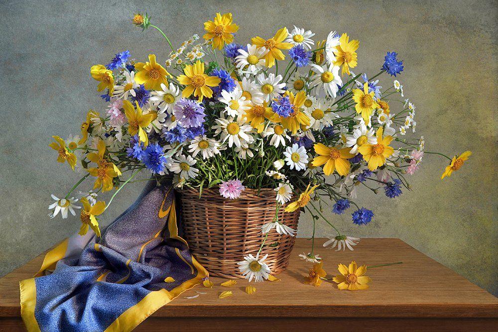 Букет цветов в корзине Фотограф Алла Шевченко