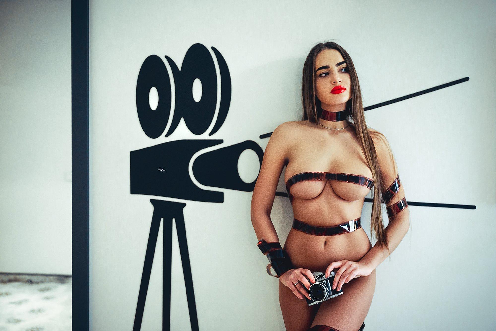 woman, portrait, nude, indoors, Руслан Болгов (Axe)