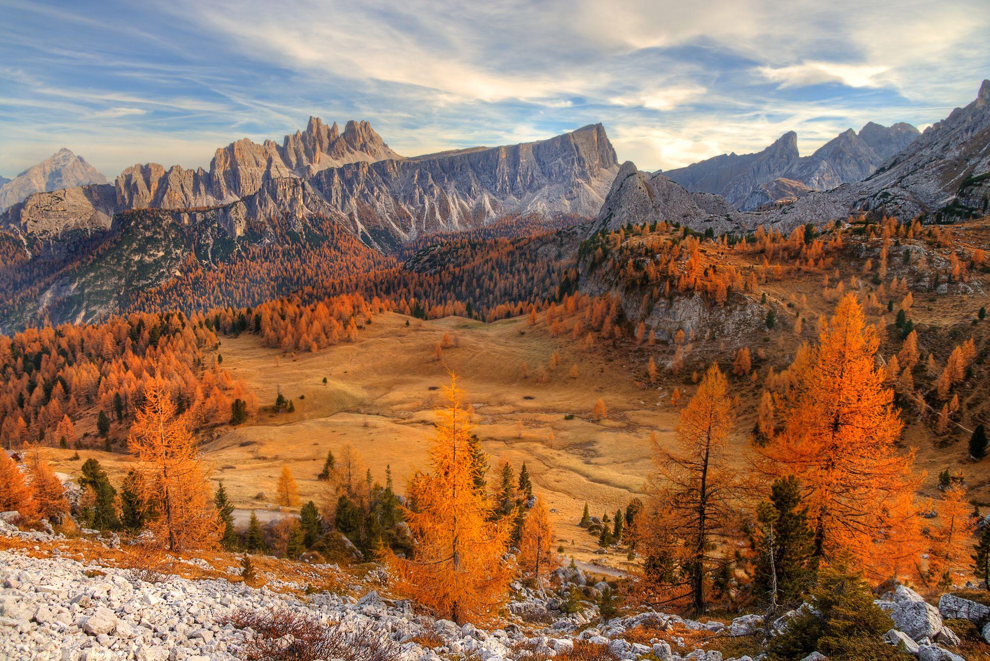 Доломитовые Альпы..Cinque Torri. Октябрь... Гордеев Эдуард