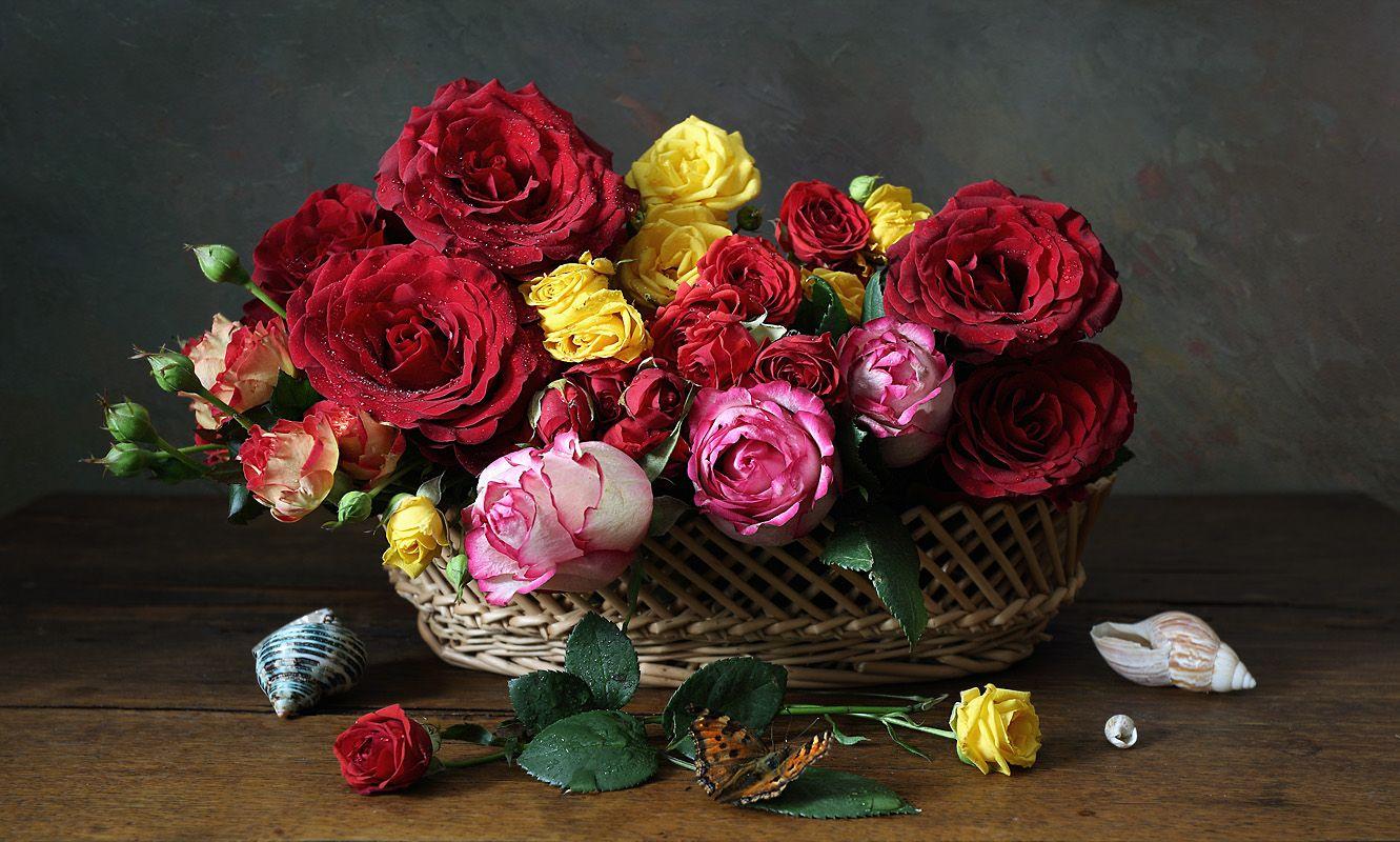С розами Елена Татульян