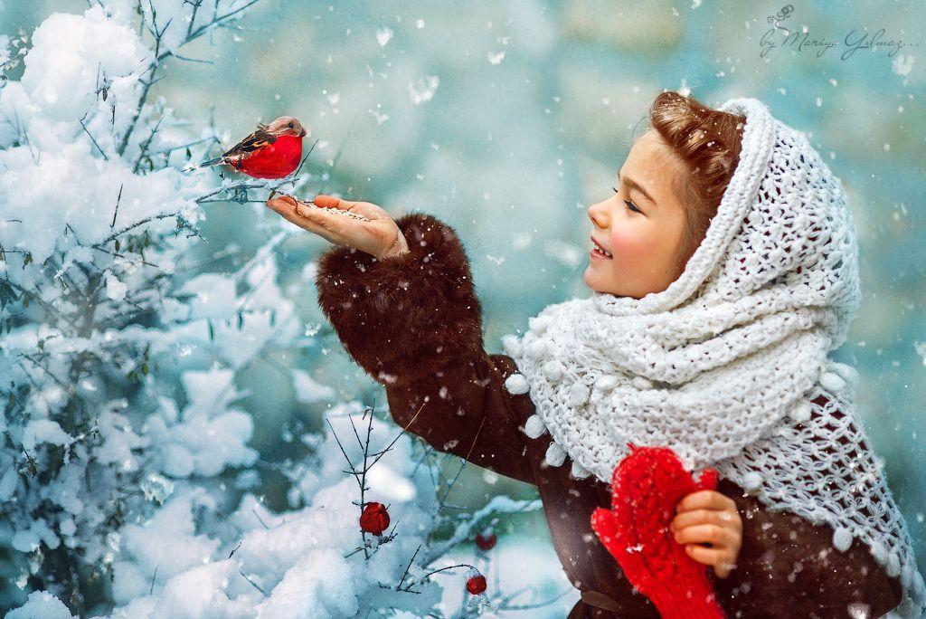 Катюша и снегирь. Mariya Yılmaz