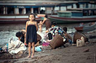 Вечерние постирушки в р.Меконге.