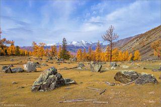 Природный сад камней, терраса на д степью Самаха.