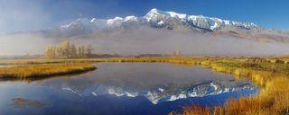В кадр помещается отражение вершины Куркурека