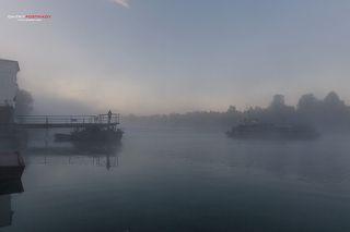 Паромная переправа на канале имени Москвы.Деревня Мельдино.