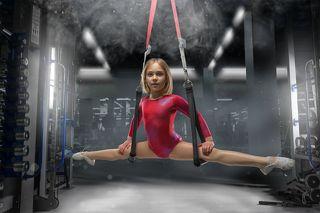 Меленькая гимнастка