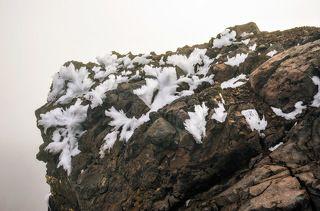 причуды снега и ветра на вершине Авачинского вулкана