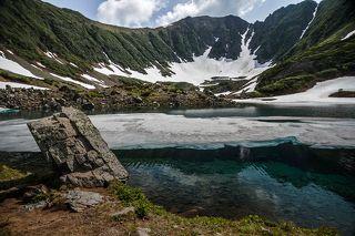 Одно из трех озер именуемых Голубыми на Камчатке.
