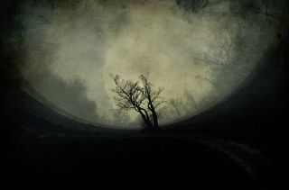 Abstract grunge landscape.